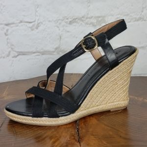 Banana Republic Shea Jute Wedge Sandal size 7 1/2